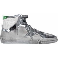 Scarpe Donna Sneakers alte Golden Goose GOLDEN GOOSE HI TOP SNEAKERS DONNA G32WS599I8          ARGENTO/BIANCO