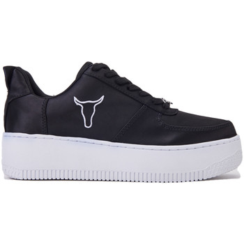 Scarpe Donna Sneakers basse Windsor Smith Sneakers RACERR/BLACK/WHIT SATIN , colore nero, para doppia, co Multicolore