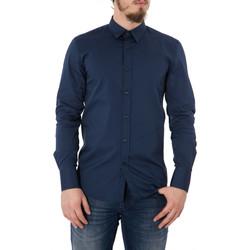 Abbigliamento Uomo Camicie maniche lunghe Antony Morato Camicia basic uomo super slim fit MMSL00375/FA450001 Blu