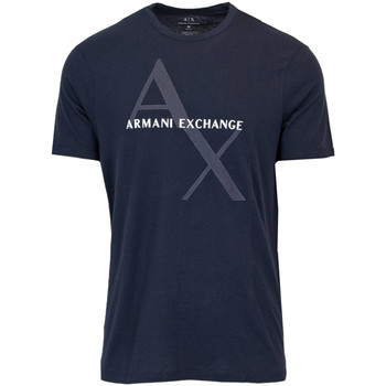 Abbigliamento Uomo T-shirt maniche corte Armani Exchange UOMO T-SHIRT REGULAR JERSEY 8NZT76 Z8H4Z Blu
