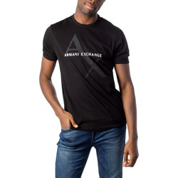 Abbigliamento Uomo T-shirt maniche corte Armani Exchange UOMO T-SHIRT REGULAR JERSEY 8NZT76 Z8H4Z Nero