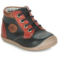 Scarpe Bambino Sneakers alte Catimini RAYMOND Nero-rosso