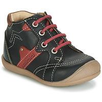 Scarpe Bambino Sneakers alte Catimini GASTON Nero / Rosso