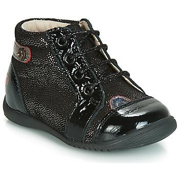 Scarpe Bambina Sneakers alte GBB NICOLE Nero / Pailleté