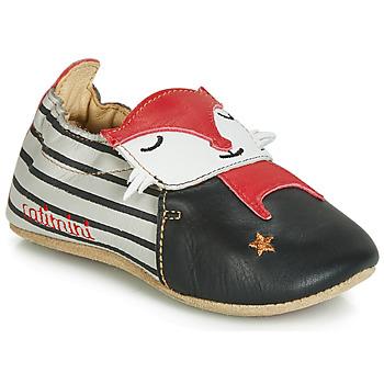 Scarpe Bambino Pantofole Catimini RENARDOU Nero / Grigio / Rosso
