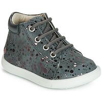 Scarpe Bambina Sneakers alte GBB NICKY Grigio / Rosa