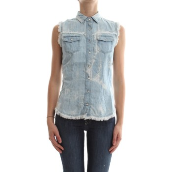 Abbigliamento Donna Top / Blusa Met MITA/F D282 E85 6592 CAMICIA Donna DENIM LIGHT BLUE DENIM LIGHT BLUE