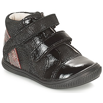 Scarpe Bambina Sneakers alte GBB ROXANE Nero / Argento