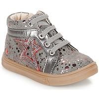 Scarpe Bambina Sneakers alte GBB NAVETTE Grigio / Rosa
