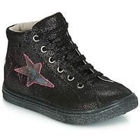 Scarpe Bambina Sneakers alte GBB MARTA Nero / Argento