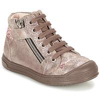 Scarpe Bambina Sneakers alte GBB DESTINY Taupe / Bronzo