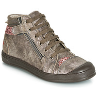 Scarpe Bambina Sneakers alte GBB DESTINY Taupe / Rosa