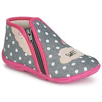 Scarpe Bambina Pantofole GBB MILKY Grigio / Rosa
