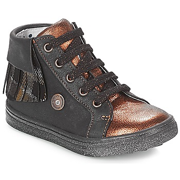 Scarpe Bambina Sneakers alte Catimini LOULOU Nero / Cuivré