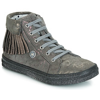 Scarpe Bambina Sneakers alte Catimini LOULOU Grigio / Rosa