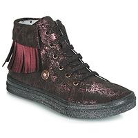 Scarpe Bambina Sneakers alte Catimini LOULOU Nero / Rosa