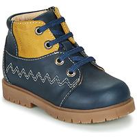 Scarpe Bambino Sneakers alte Catimini CHARLY VTU MARINE-MOUTARDE DPF/2900