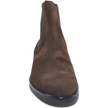 Scarpe Uomo Stivali Made In Italy Scarpe uomo beatles vero pelle scamosciata testa di moro art:b23 MARRONE