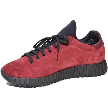 Scarpe Uomo Sneakers basse Malu Shoes Sneakers bassa uomo art.0022 in camoscio bordeaux made in italy BORDEAUX