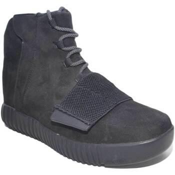 Scarpe Uomo Sneakers alte Made In Italy scarpe uomo alte art: CAM10 pellame scamosciato zip lacci fondo NERO