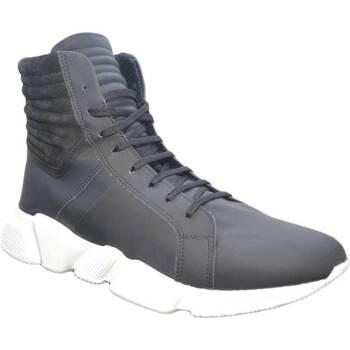 Scarpe Uomo Sneakers alte Made In Italy Scarpe uomo sneaker man moda arT:MOMA 4565 gommato nero  fondo r nero
