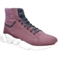 Scarpe Uomo Sneakers alte Made In Italia Scarpe uomo sneaker man moda arT:MOMA 4565 gommato bordeaux mad ROSSO