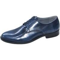Scarpe Uomo Derby Made In Italia Scarpe uomo eleganti art 014 abrasivato blu sfumato vera pelle BLU