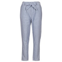 Abbigliamento Donna Pantaloni 5 tasche Betty London IKARALE Blu / Bianco