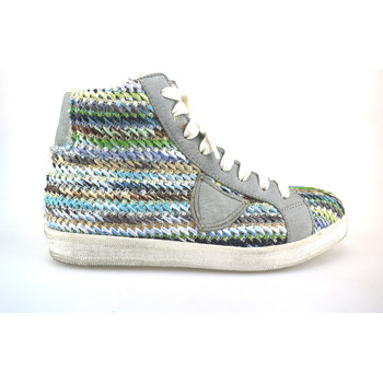 Scarpe Donna Sneakers alte Crown sneakers multicolor tessuto pelle AG227 Multicolore