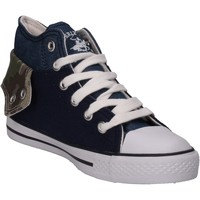 Scarpe Bambino Sneakers alte Beverly Hills Polo Club scarpe bambino  sneakers blu tela AG334 blu