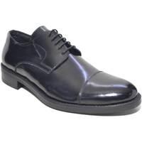 Scarpe Uomo Richelieu Made In Italia scarpe uomo stringate art: M015  fondo antiscivolo NERO