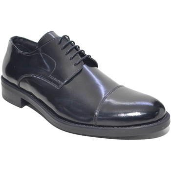 Scarpe Uomo Richelieu Made In Italy scarpe uomo stringate art: M015  fondo antiscivolo classico spor NERO