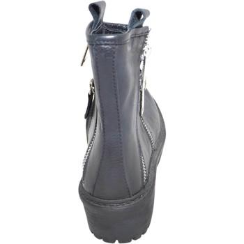Scarpe Donna Stivali Malu Shoes Stivaletto donna art.st5544 nero  in vera pelle con doppia zip c NERO