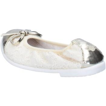 Scarpe Bambina Ballerine Lelli Kelly ballerine beige tessuto platino pelle AG673 beige