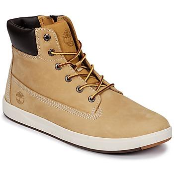 Scarpe Unisex bambino Sneakers alte Timberland Davis Square 6 Inch Boot Marrone