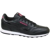 Scarpe Unisex bambino Sneakers basse Reebok Sport CL Leather Girl Squad Nero