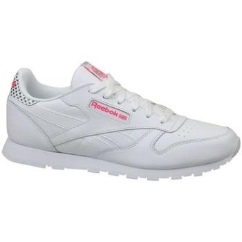 Scarpe Unisex bambino Sneakers basse Reebok Sport CL Leather Girl Squad Bianco