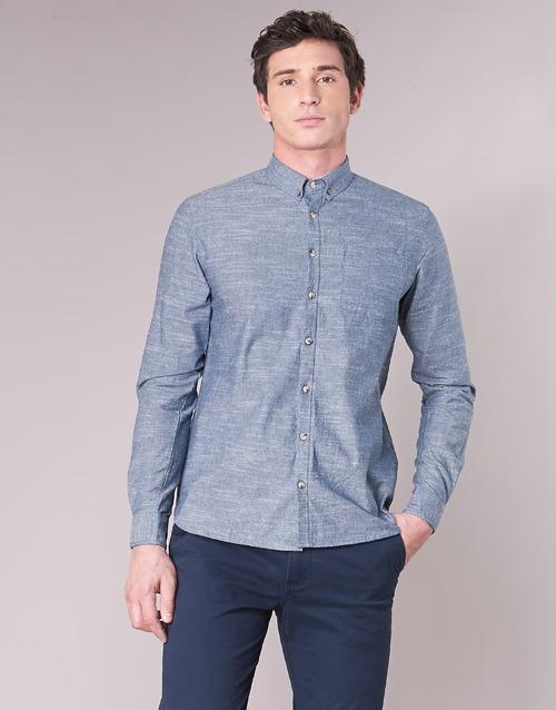 Casual Attitude IPODRUM Blau - Consegna gratuita   Spartoo    - Abbigliamento Camicie maniche lunghe herren 17,50