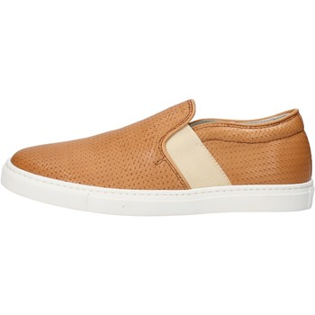 Scarpe Donna Slip on K852 & Son slip on cuoio pelle AG953 marrone