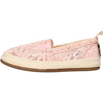 Scarpe Donna Slip on O-joo slip on rosa tessuto AG958 Rosa