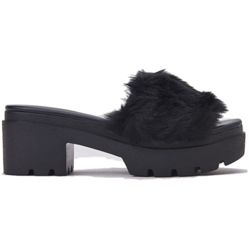 Scarpe Donna Ciabatte Windsor Smith Caiabatta Donna, ELVA/BLACK, con fascia  in pelo, colore n Nero