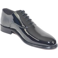 Scarpe Uomo Richelieu Made In Italia Scarpe calzature business man eleganti colore nero vernice vera NERO