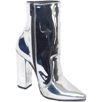 Scarpe Donna Stivaletti Malu Shoes SCARPE DONNA TRONCHETTO PUNTA SPECCHIATO ARGENTO MADE IN ITALY G ARGENTO