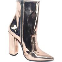 Scarpe Donna Stivaletti Malu Shoes SCARPE DONNA TRONCHETTO PUNTA SPECCHIATO CHAMPAGNE MADE IN ITAL CHAMPAGNE