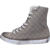 Scarpe Donna Sneakers alte 2 Stars scarpe donna  sneakers beige tessuto camoscio AC17 beige