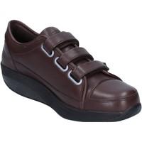 Scarpe Donna Sneakers basse Mbt sneakers marrone pelle performance AC143 marrone