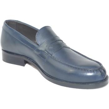 Scarpe Uomo Mocassini Malu Shoes Scarpe uomo mocassini inglese college vera pelle crust matto ma BLU