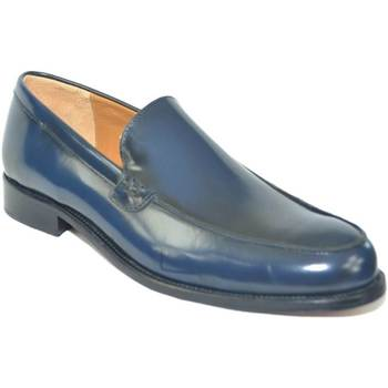 Scarpe Uomo Mocassini Malu Shoes Scarpe uomo mocassini inglese college liscio vera pelle abrasiva BLU