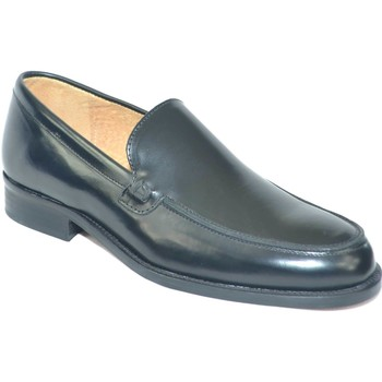 Scarpe Uomo Mocassini Malu Shoes Scarpe uomo mocassini inglese college liscio vera pelle abrasiva NERO