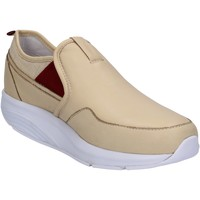 Scarpe Donna Sneakers basse Mbt scarpe donna  slip on mocassini beige pelle tessuto AC442 beige